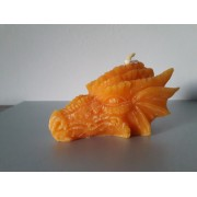 Tête de dragon orange
